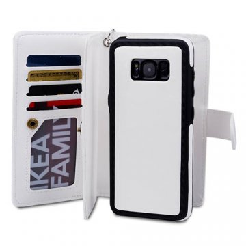 BRG Samsung Galaxy S8 Plus 9 Card Slots Wallet Magnetic 2 in 1 Detachable Case