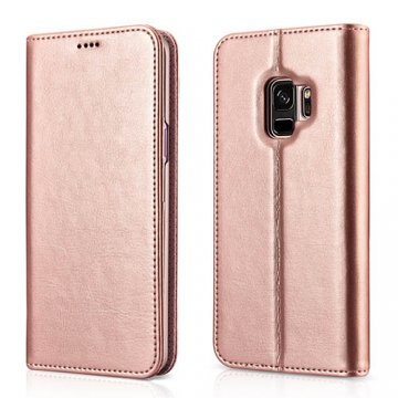 XOOMZ Samsung Galaxy S9 Stand Wallet Leather Folio Case Pink