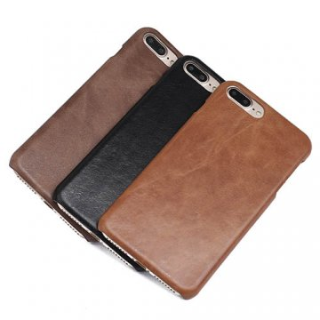 Genuine Leather Matte iPhone 7 Plus Hard Back Cover Case