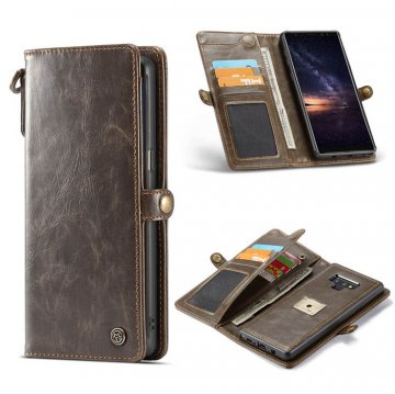 CaseMe Samsung Galaxy Note 9 Wallet Magnetic 2 in 1 Case Brown