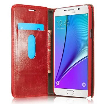 CaseMe Luxury Series PU Wallet Leather Stand Case For Samsung Galaxy Note 5