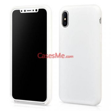 XOOMZ iPhone X Liquid Silicone Soft Back Cover Case White