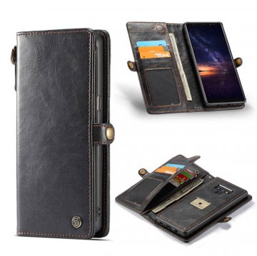 CaseMe Samsung Galaxy Note 9 Wallet Case With Wrist Strap Black