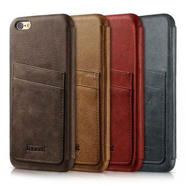 ICARER Knight Card-slot Real Leather Cover Series Case For iPhone 6S/ 6