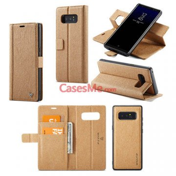 WHATIF Samsung Galaxy Note 8 Wallet Detachable DIY Case Brown