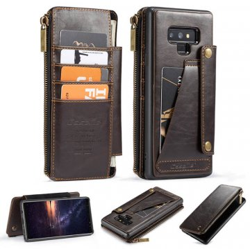 CaseMe Samsung Galaxy Note 9 Business Wallet 2 in 1 Case Coffee