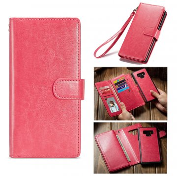 BRG Samsung Galaxy Note 9 Wallet Magnetic 2 in 1 Case Rose