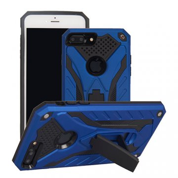 Apple iPhone 7 Plus Armor Hybrid Shockproof Stand Case Blue