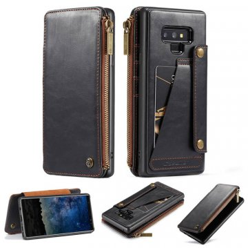 CaseMe Samsung Galaxy Note 9 Business Wallet 2 in 1 Case Black