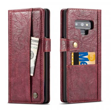 CaseMe Samsung Galaxy Note 9 Card Slots Wallet Case Red