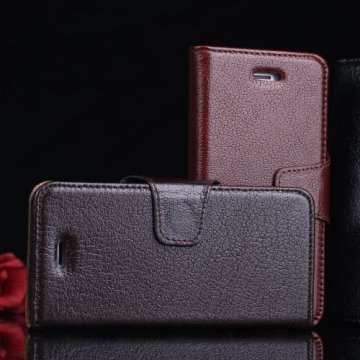 Yak Skin iPhone SE/5S/5 Business Genuine Leather Wallet Stand Case