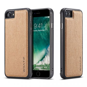 WHATIF iPhone 8 Waterproof Kraft Paper DIY Cover Brown