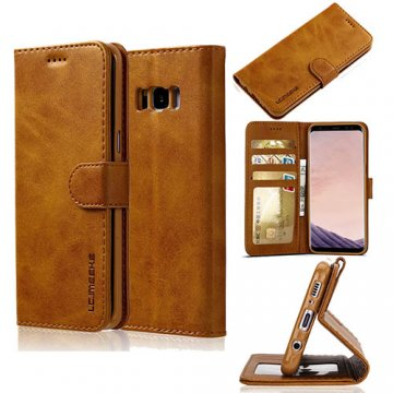 LC.IMEEKE Samsung Galaxy S8 Plus Wallet Stand PU Leather Case