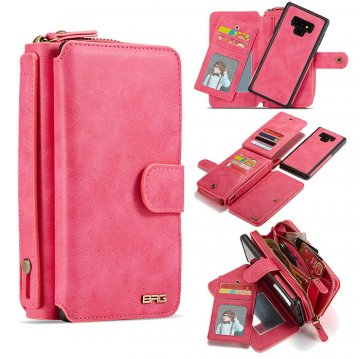 BRG Samsung Galaxy Note 9 Wallet Magnetic Detachable Case Rose