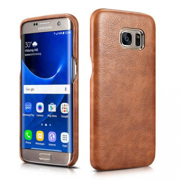 XOOMZ Samsung S7 Edge Liquidmetal Premium Retro PU Leather Back Cover Case