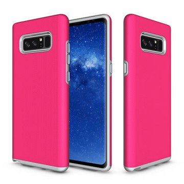 Samsung Galaxy Note 8 Rugged Anti-skid Hybrid PC + TPU Armor Protective Case Rose