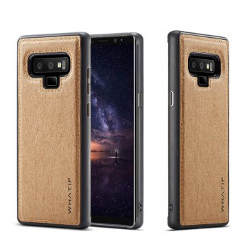 WHATIF Samsung Galaxy Note 9 Kraft Paper Waterproof DIY Cover Brown