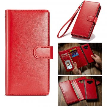 BRG Samsung Galaxy Note 9 Wallet 9 Card Slots Magnetic Case Red