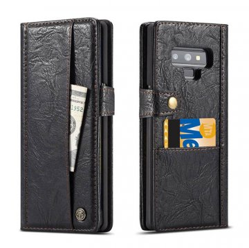 CaseMe Samsung Galaxy Note 9 Card Slots Wallet Case Black