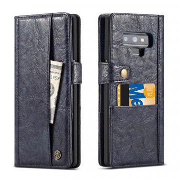 CaseMe Samsung Galaxy Note 9 Card Slots Wallet Case Blue