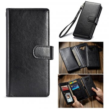 BRG Samsung Galaxy Note 9 Wallet Magnetic Detachable Case Black