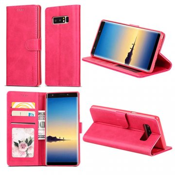 LC.IMEEKE Samsung Galaxy Note 8 Wallet Stand Leather Case Rose
