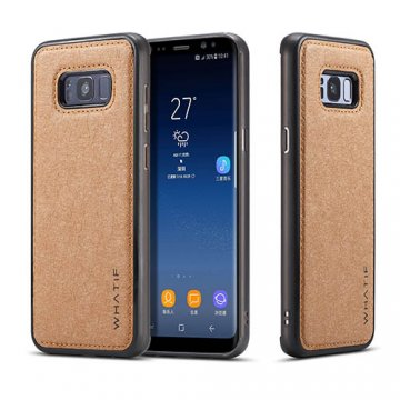 WHATIF Samsung Galaxy S8 Plus Waterproof Kraft Paper DIY Cover Brown