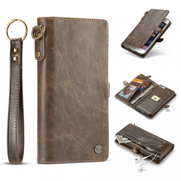 CaseMe iPhone 6S Plus/6 Plus Wallet Case With Wrist Strap Coffee