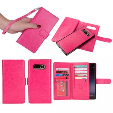 BRG Samsung Galaxy Note 8 Detachable Wallet Magnetic Case Rose