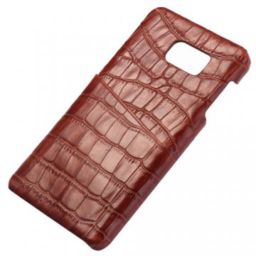 Crocodile Pattern Card Slot Genuine Leather Back Cover For Samsung Galaxy Note 5