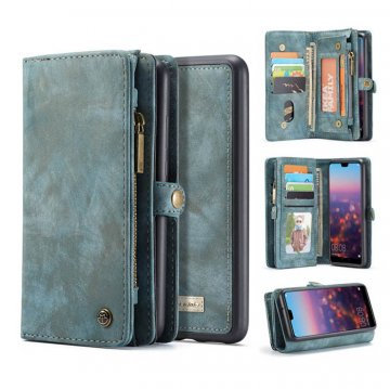 CaseMe Huawei P20 Pro Wallet Magnetic 2 in 1 Case Blue