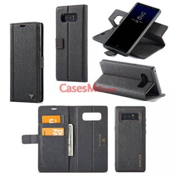 WHATIF Samsung Galaxy Note 8 Wallet Detachable DIY Case Black