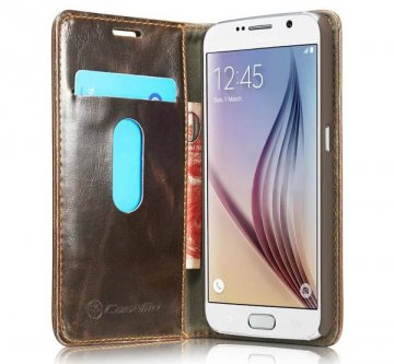 CaseMe Luxury Series PU Wallet Leather Stand Case For Samsung Galaxy S6