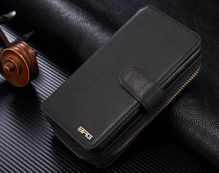 BRG Samsung Galaxy S7 Edge Multi-functional 2 in 1 Zipper Wallet Leather Detachable Magnetic Case Cover