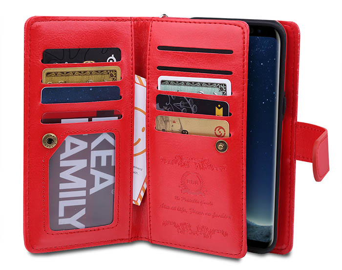 BRG Samsung Galaxy S8 Plus 9 Card Slot Wallet Magnetic 2 in 1 Detachable Case