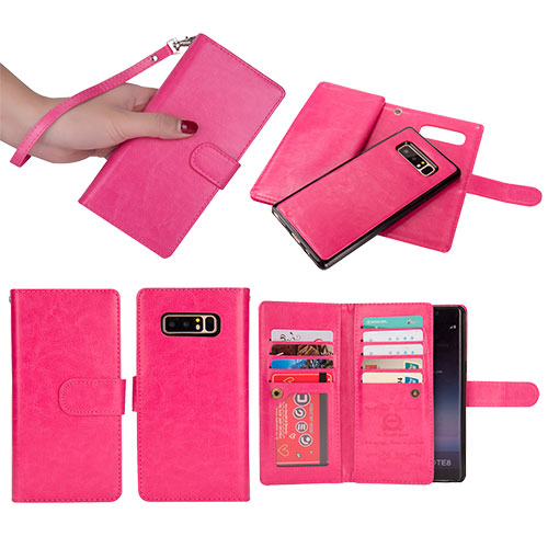 huge discount 66f65 a1024 BRG Samsung Galaxy Note 8 Detachable Wallet Magnetic Case Rose