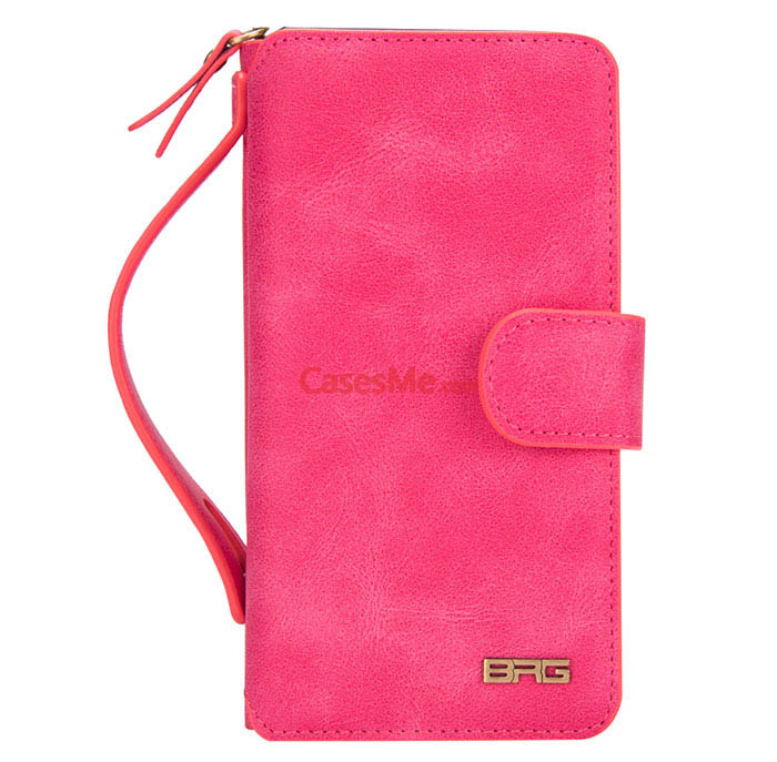 BRG Samsung Galaxy Note 8 Zipper Wallet Detachable Magnetic Case