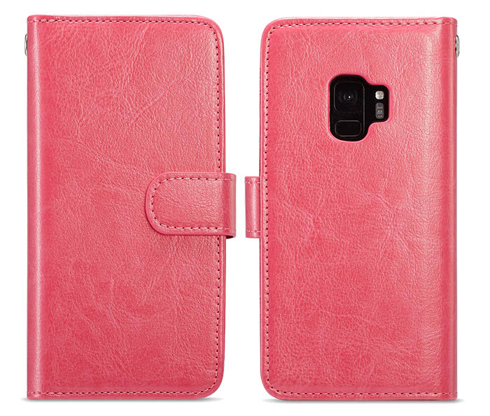 BRG Samsung Galaxy S9 Wallet 9 Card Slots Detachable 2 in 1 Magnetic Case