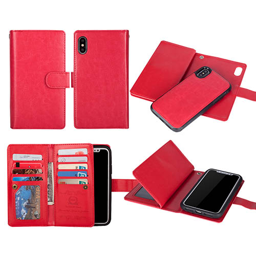 phone case iphone xr wallet red
