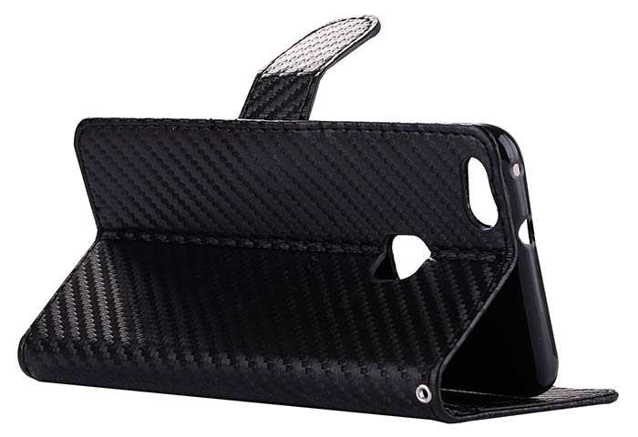 Carbon Fiber Huawei P10 Lite Wallet Stand Leather Case