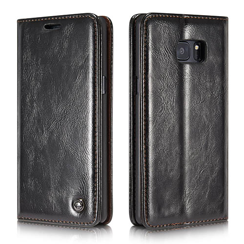CaseMe 003 Samsung Galaxy Note 7 Business Style Magnetic Flip Wallet Case Black