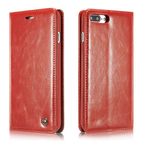 ef17fd638848 CaseMe iPhone 8 Plus Magnetic Flip Wallet Case Red