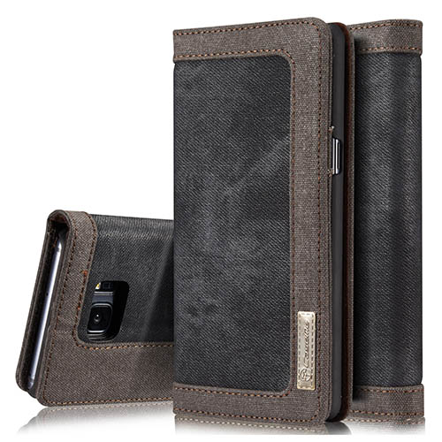 CaseMe 006 Samsung Galaxy Note 7 Canvas Wallet PU Leather Stand Case Black
