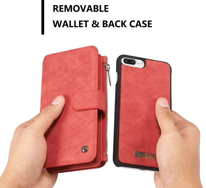 CasesMe.com : CaseMe 007 iPhone 7 Plus Wallet Case Red