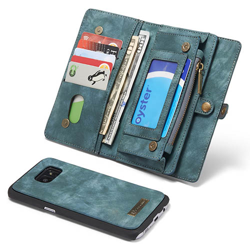 quality design c2197 fd704 CaseMe Samsung Galaxy S7 Edge Zipper Wallet Detachable 2 in 1 Folio Case  Green