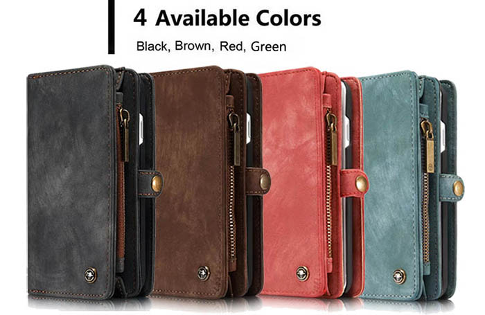 CaseMe iPhone 6S/6 Zipper Wallet Detachable 2 in 1 Folio Case