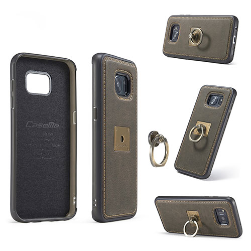 buy popular 09bb2 ae52c CaseMe Samsung Galaxy S7 Edge Detachable Ring Stand Magnetic Back Cover
