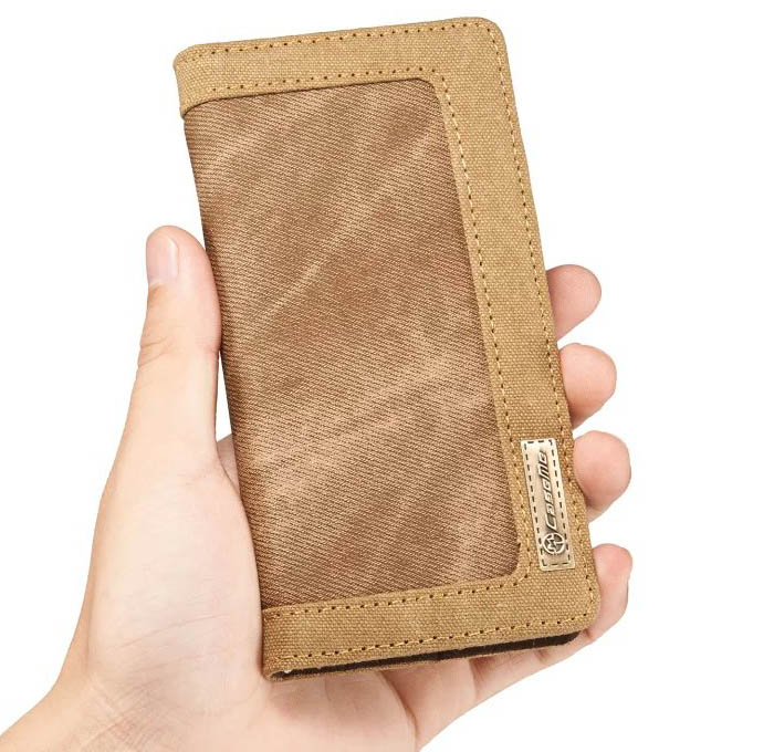 CaseMe Samsung Galaxy S7 Canvas Jeans PU Leather Wallet Stand Case
