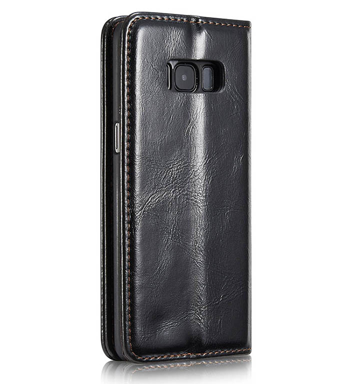 CaseMe Samsung Galaxy S8 Business Style Magnetic Flip Wallet Case Black