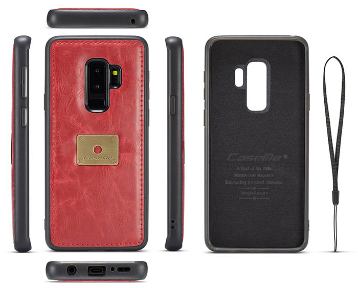 CaseMe Samsung Galaxy S9 Plus Wallet Retro Style Case With Wrist Strap